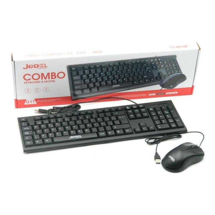 Клавиатура с мышкой G17 Jedel проводная