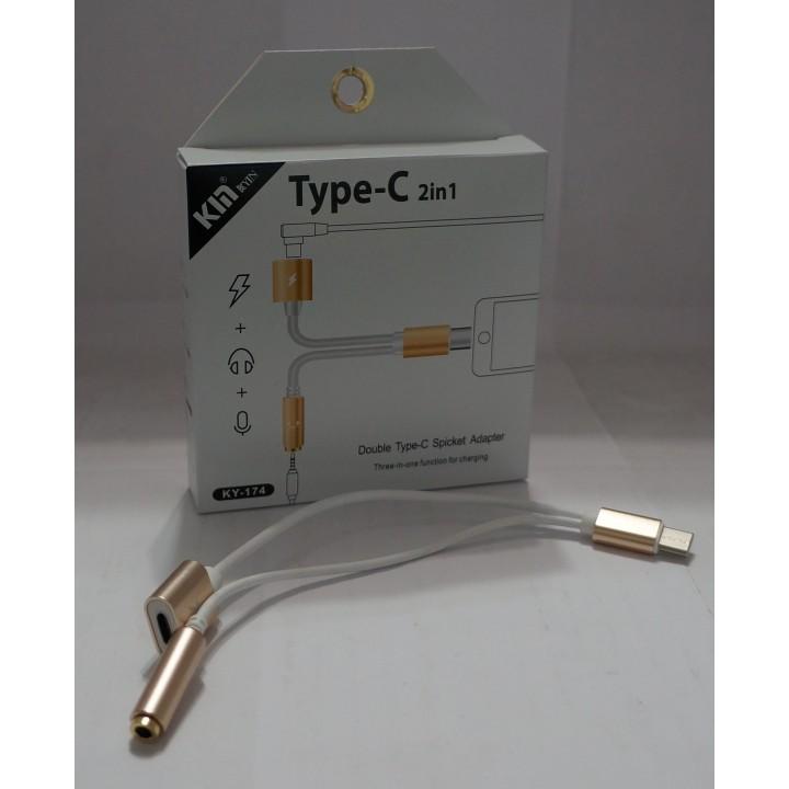 Переходник-адаптер KYIN Type-c 2 in 1 KY-174