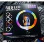 Кольцевая лампа для профессиональной съемки RGB LED Soft Ring Light CXB--RG300 30cm радужная-гибрид