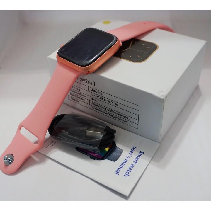Умные часы Smart Watch W26 + розовый Leading a healthy Lifisyle