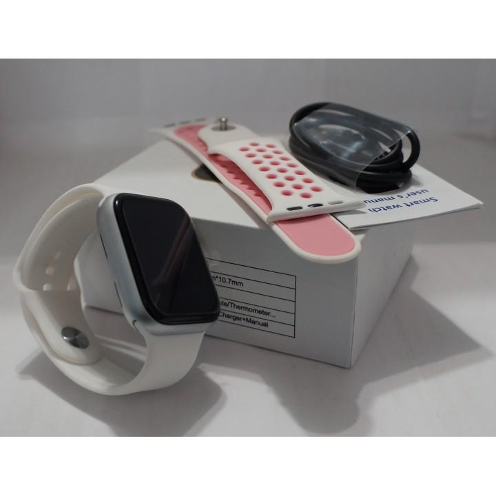 Умные часы Smart Watch W26 + белый с запасным ремешком Leading a healthy Lifisyle