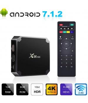 Смарт ТВ приставка X96 mini 1/8 (1Gb Ram, 8 Gb) Flash, 4-ядерная на Android 7.1.2