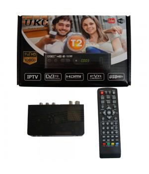 Цифровая ТВ приставка, ресивер тюнер DVB-T2 UKC 0967 с поддержкой wi-fi адаптера