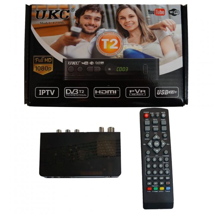 T2 ТВ ресивер тюнер DVB-T2 UKC 0967 с поддержкой wi-fi адаптера